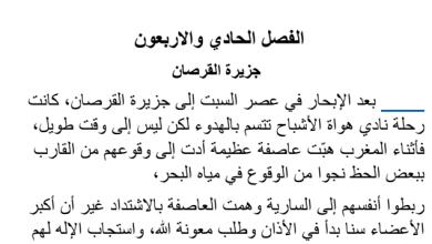 Photo of تلخيص الفصل الحادي والاربعون جزيرة القرصان|عساكر قوس قزح