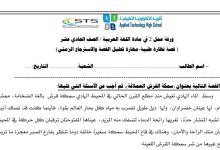 Photo of ورقة عمل نظارة طبية لغة عربية صف حادي عشر فصل ثاني