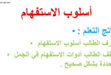 Photo of شرح أسلوب الاستفهام لغة عربية صف ثالث فصل ثاني