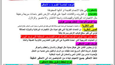 Photo of ملخص درس الأحافير علوم صف ثامن فصل ثالث
