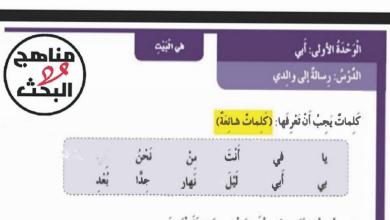 Photo of حل درس رسالة إلى والدي لغة عربية صف أول فصل ثالث