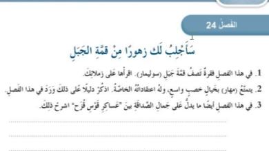 Photo of حل الفصل الرابع والعشرون سأجلب لك زهوراً من قمة الجبل  عساكر قوس قزح