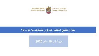 Photo of جدول تطبيق الاختبار المركزي للصفوف من 4 – 12