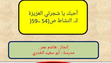Photo of حل درس أحبك يا شجرتي العزيزة لغة عربية صف خامس