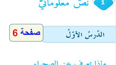 Photo of حل نص معلوماتي ماذا تعرف عن الصحراء سابع