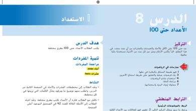 Photo of حل درس الأعداد حتى 100 رياضيات صف أول فصل أول