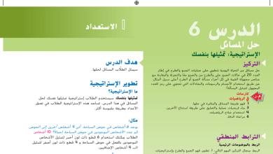 Photo of حل درس استراتيجية حل المسائل رياضيات صف أول فصل أول