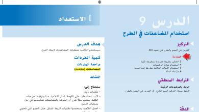 Photo of حل درس استخدام المضاعفات في الطرح رياضيات صف ثاني فصل أول