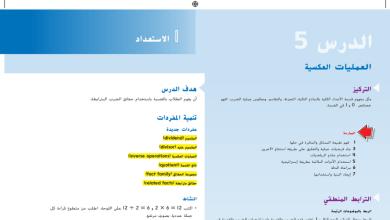 Photo of حل درس العمليات العكسية رياضيات صف ثالث فصل أول