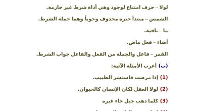 Photo of أوراق عمل محلولة في الإعراب لغة عربية صف ثامن