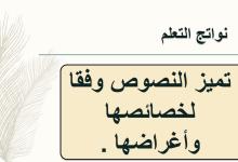 Photo of بوربوينت درس النصوص من حولنا لغة عربية صف سادس فصل أول