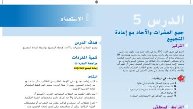 Photo of حل درس جمع العشرات والآحاد مع إعادة التجميع رياضيات صف أول فصل ثاني