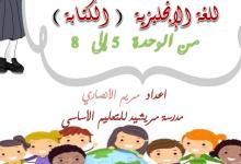 Photo of مواضيع كتابة لغة إنجليزية صف رابع فصل ثاني