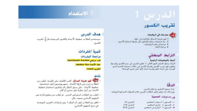 Photo of حل درس تقريب الكسور رياضيات صف خامس فصل ثاني