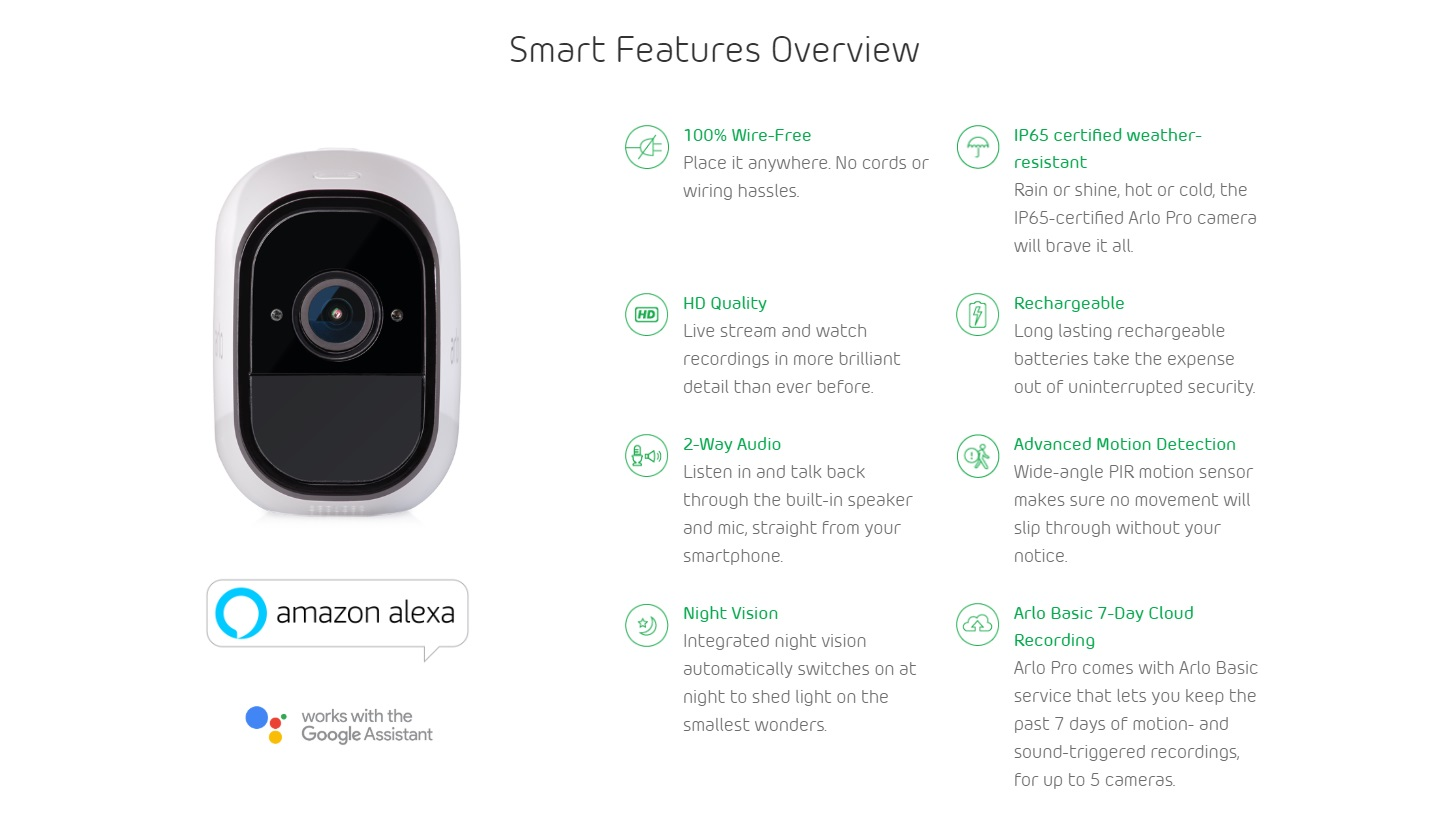 Arlo Pro 6 Camera Indoor/Outdoor Wire-Free HD Security