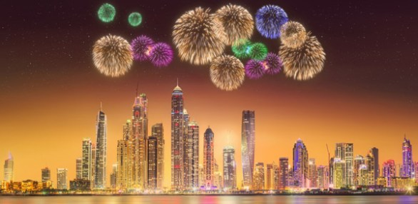 NYE fireworks dubai images