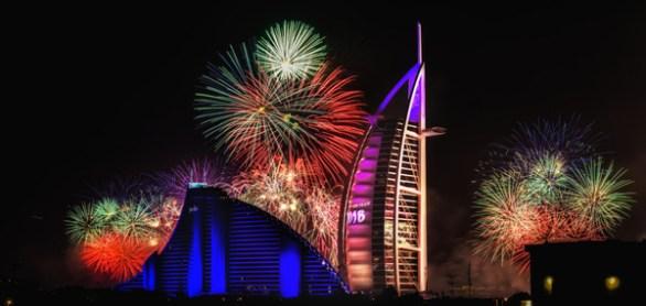 burj al arab new years eve fireworks