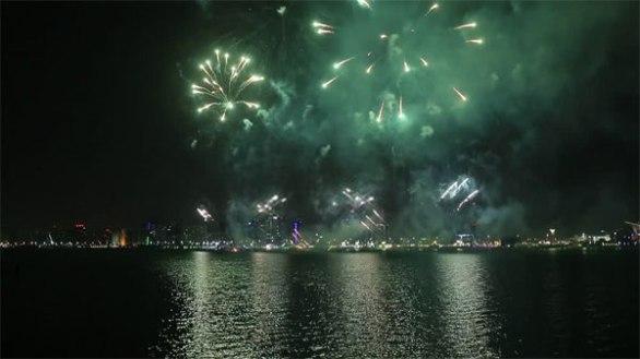 Fireworks timing dubai