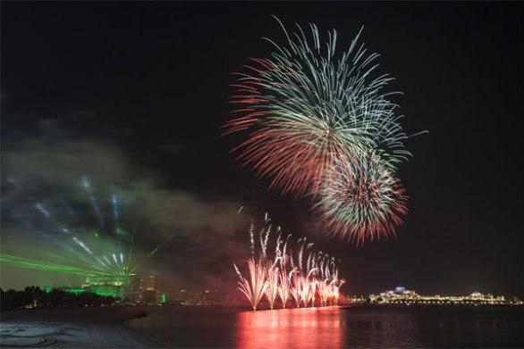 UAE National Day Fireworks La Mer