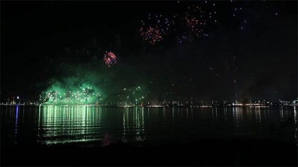 UAE National Day Fireworks The Beach