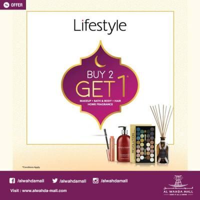 Lifestyle Buy 2 Get 1 Free Offers - UAE DUBAI OFFERS DEALS ...