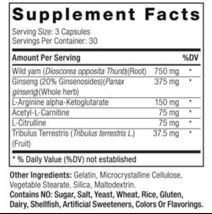 DecaDuro Ingredients