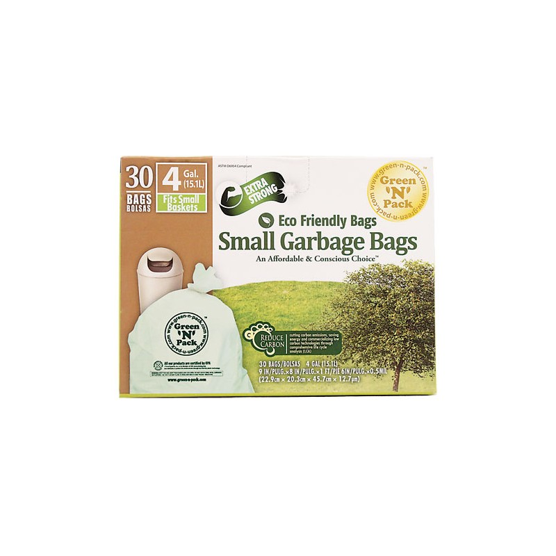 Eco Friendly Bags Small Garbage Bags 4 Gallon, 30 Bag(s