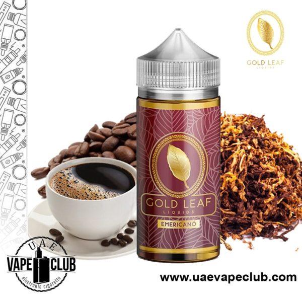 Buy Online Vape Kits, Premium E-juice, Liquids, Gold leaf liquids emericano 100ml | Buy Now vape shop in UAE, Pods, Vape Batteries in UAE from Uaevapeclub.com