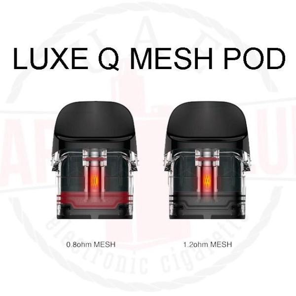 Vaporesso Q Mesh Pod 2Ml | Best By Online Vape Shop In Dubai More info Resistance: 0.8ohm And 1.2ohm Designed for Vaporesso Luxe Q Pod System Kit Capacity: 2.0ml