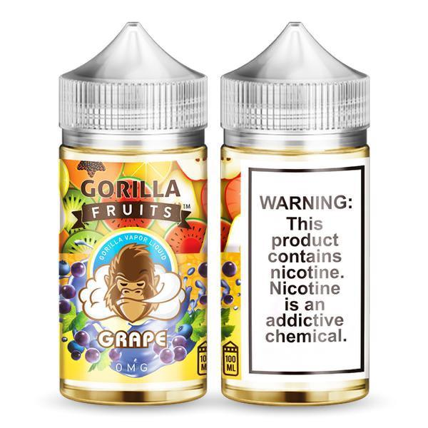 Gorilla fruits vape juice Grape 100ml Buy Online Uae Vape Club Flavor – Fruits Grape Bottle Size – 100 ML Nicotine Level – 3 MG VG/PG – 70 /30