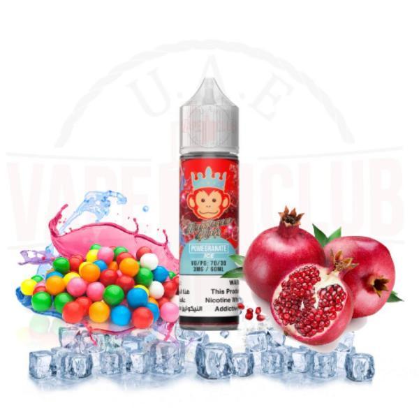 Bubblegum Kings Pomegranate ice 60ml Best Buy In Uae Vape Club Online Vape Shop E-Juice Pomegranate Ice Brand Name: Dr. Vapes Flavor: Bubble Gum and Pomegranate, Ice VG/PG: 70%/30% Size: 60 ml