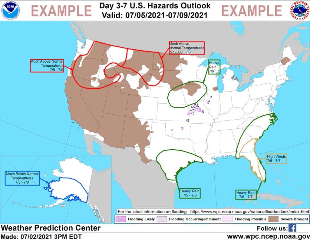 hazards map