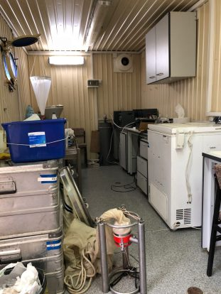 A look at the inside of a container lab.
