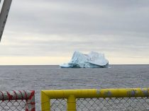 The largest iceberg I have seen so far! One -fifth of their height and one-eighth of their volume float on the water surface and the greater mass is below water.