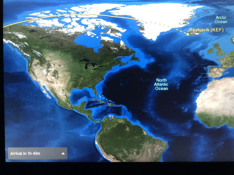 over north pole