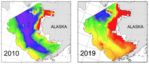map of ocean temperatures off alaska