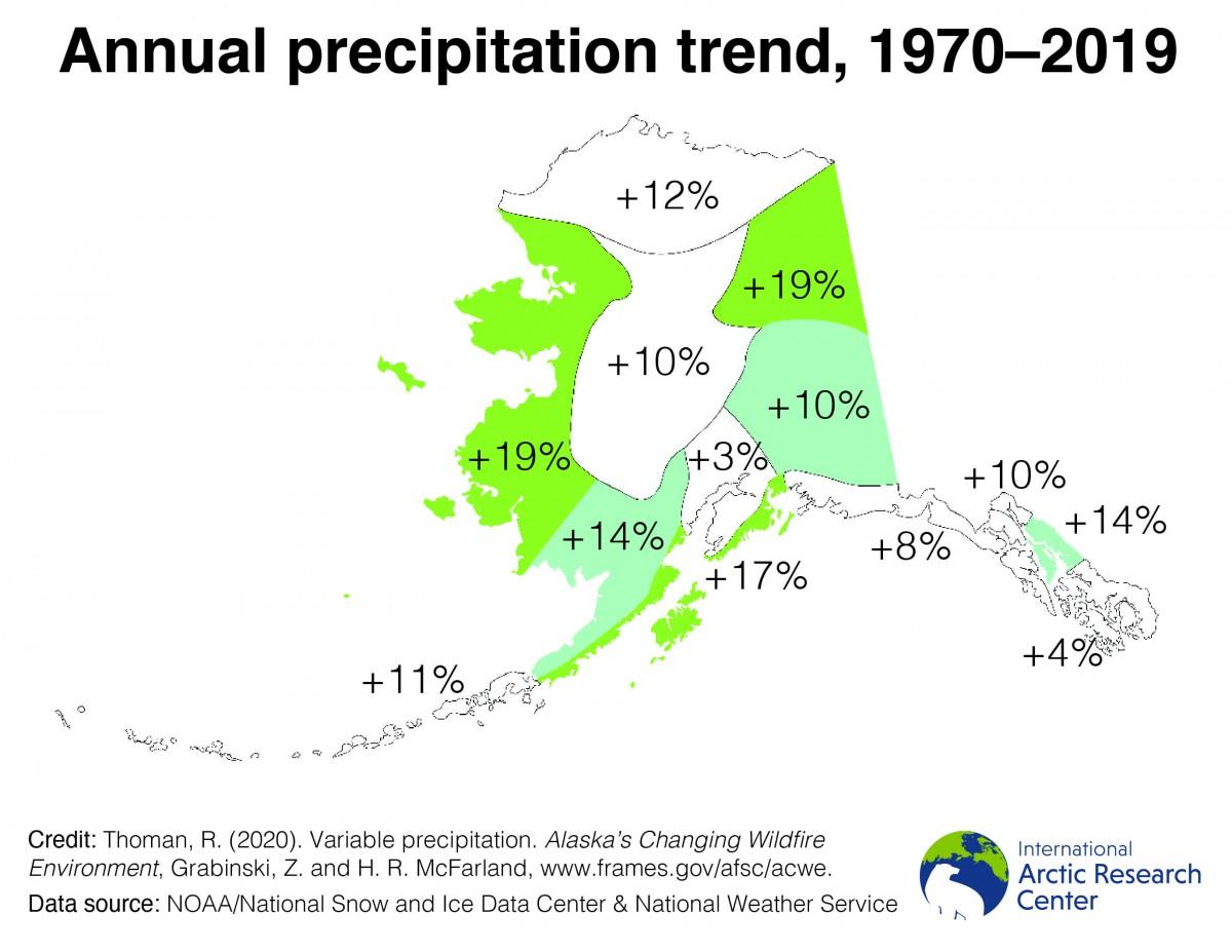 precipitation trends map