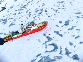 icebreaker on sea ice