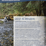 Shows the front page of the AK CASC 2021 annual report.