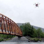 UAV inspection of the Placer River Trail bridge through image-based 3D modeling