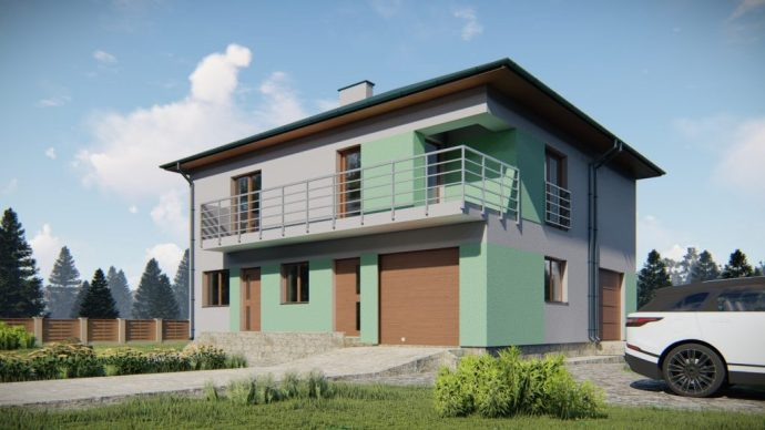 Dwa budynki mieszkalne jednorodzinne w zabudowie bliźniaczej. Rzeszów 3