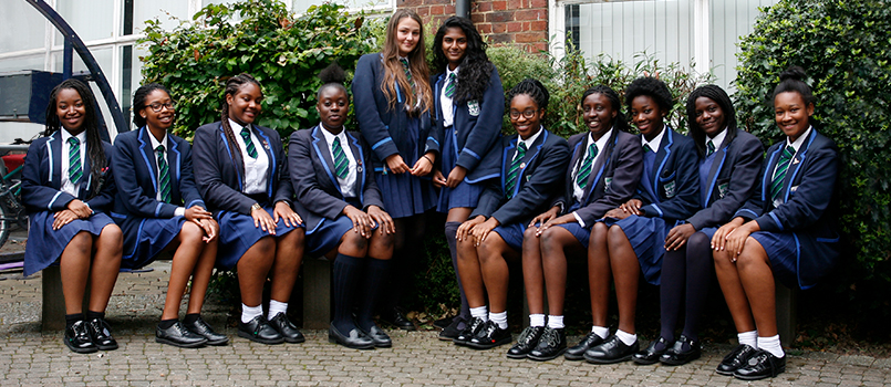 Students at the Ursuline Academy Ilford