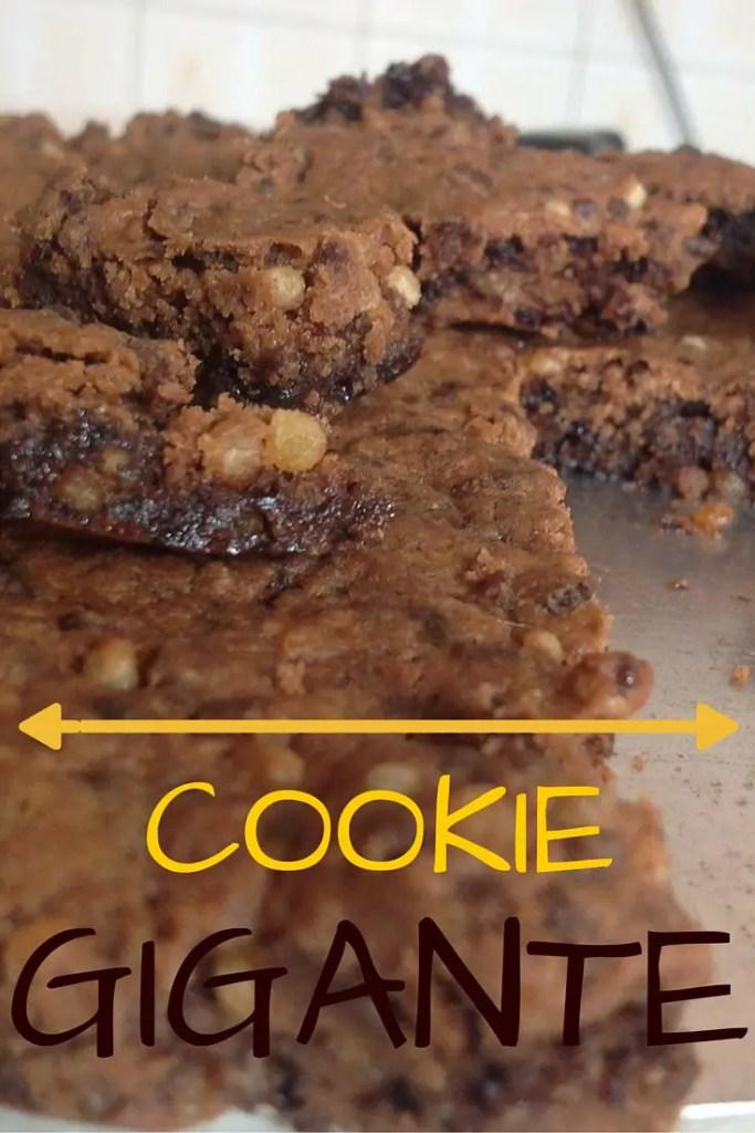 Imagina um cookie gigante pra você dividir com quem quiser? Imaginou? Vem cá que tem receita super fácil pra fazer, fica pronta rapidinho e pode ser adaptada de várias maneiras :)