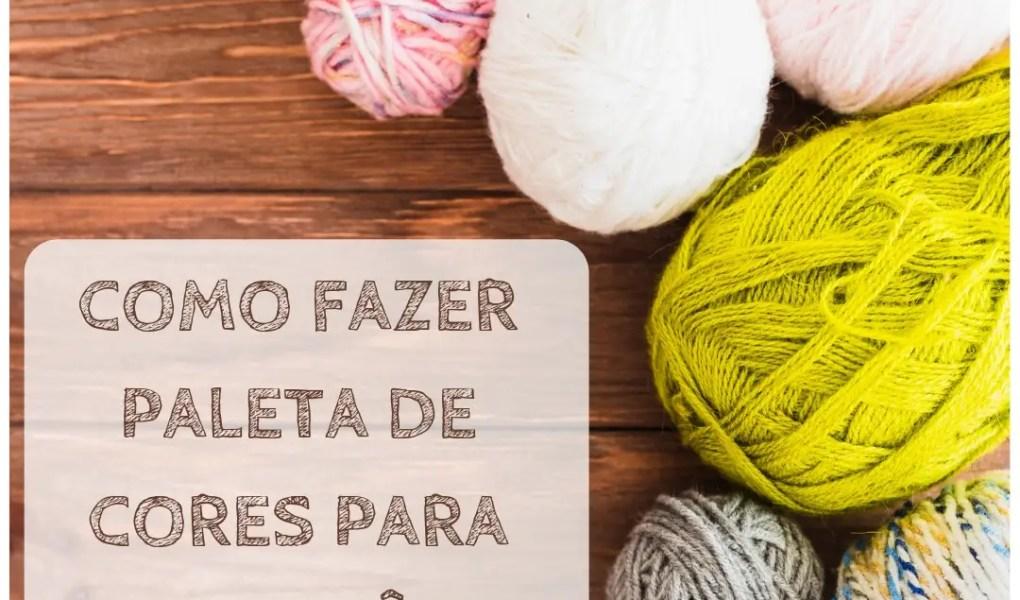 Paleta de cores para crochê e artesanato