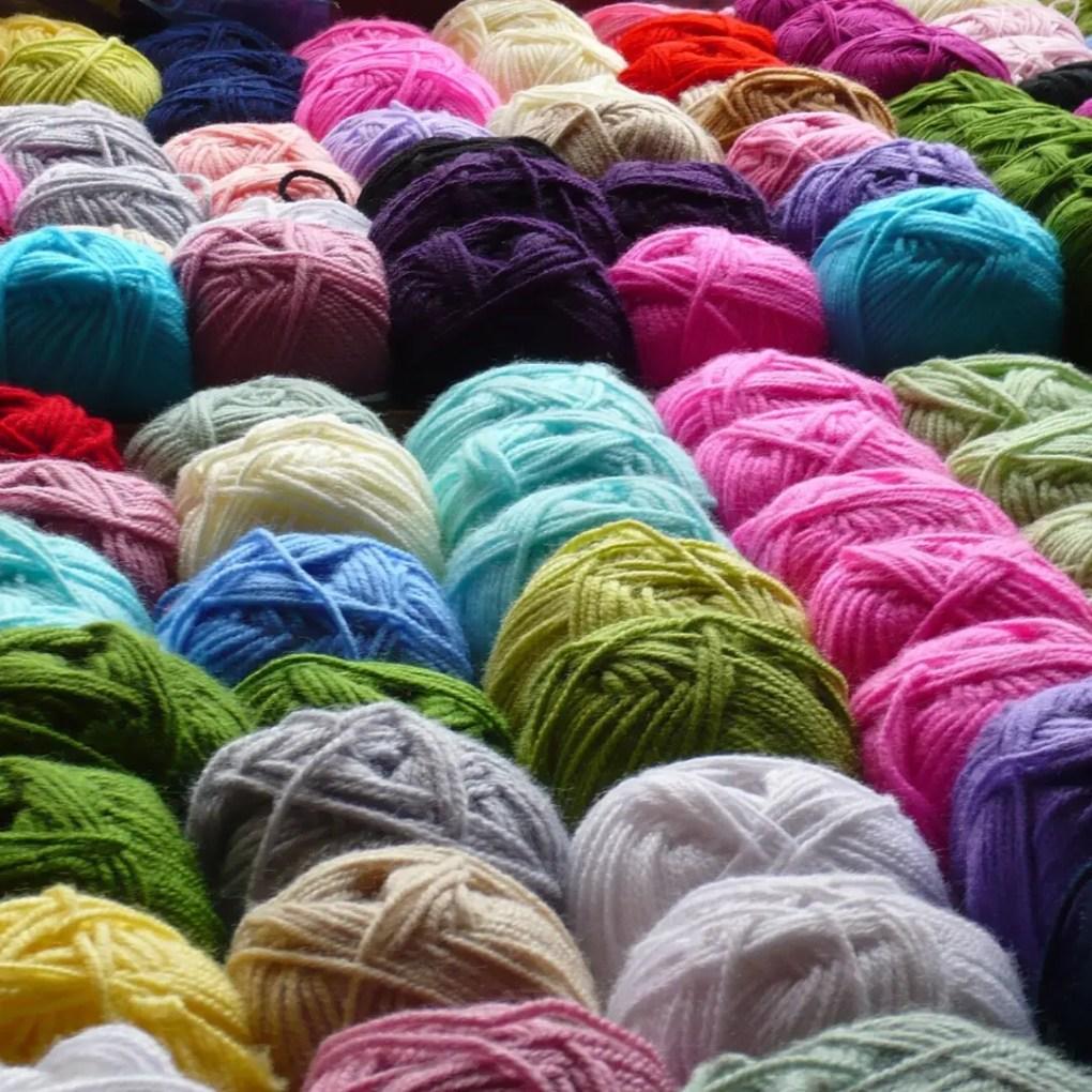 Como lavar crochê: linhas acrílicas