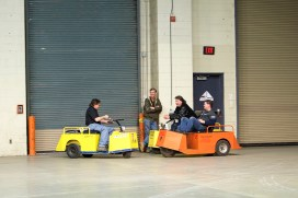 SEMA's official shippers having their own fun competition.