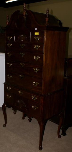 Council Craftsman solid mahogany highboy