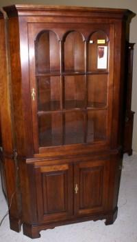 Statton furniture solid cherry corner cabinet