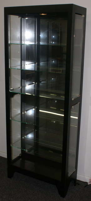 Black onyx side door curio cabinet  display cabinet by Pulaski Furniture