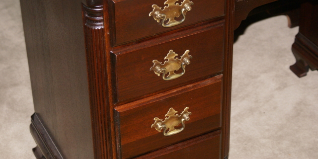 Solid mahogany Kling Furniture antique desk